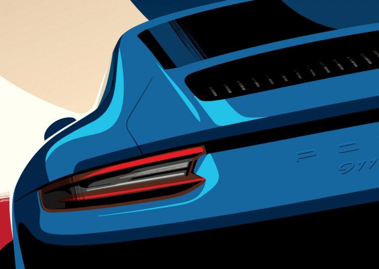 Porsche Poster 911 GTS GT3